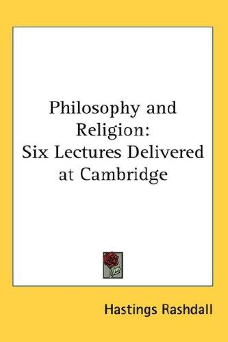Philosophy and Religion